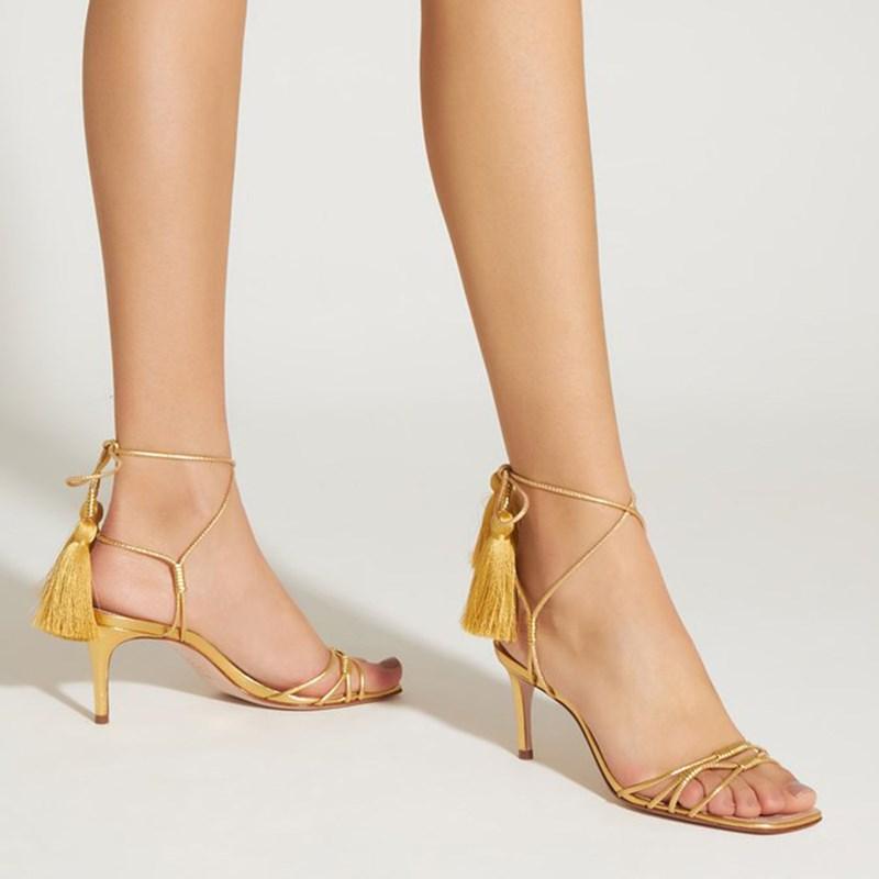 Sandalia Schutz Ouro - 232982