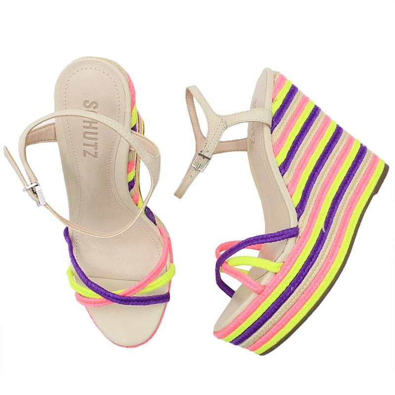 Sandalia Schutz Pink/Yellow - 238185