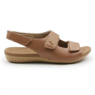 Sandalia Usaflex Feminina Camel - 242085