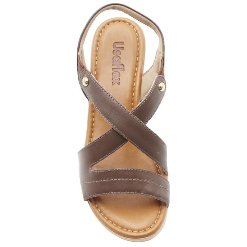 Sandalia Usaflex Feminina Chocolate - 242086