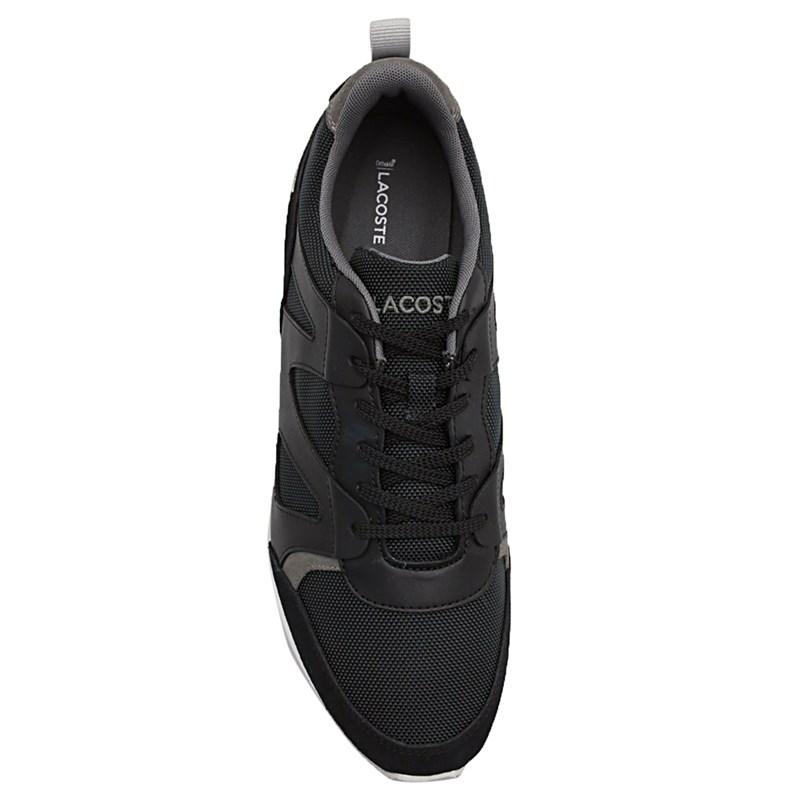 Sapatênis Masculino Lacoste Black/Dark Grey - 230550