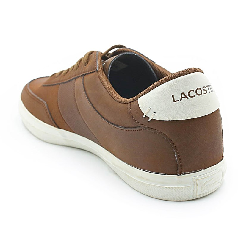 Sapatênis Masculino Lacoste Brown/Off White - 223147