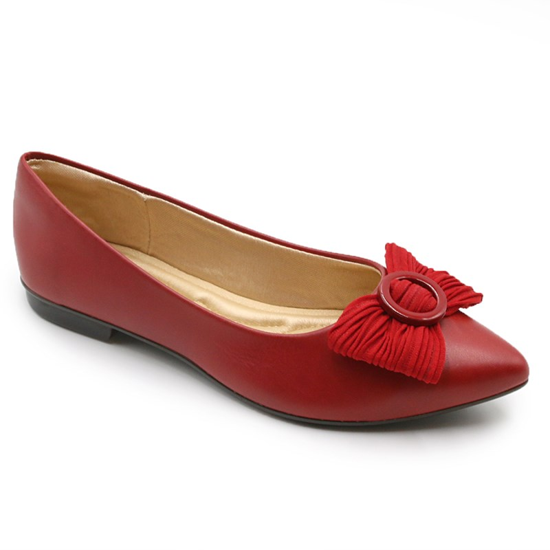 Sapatilha Feminina Charmant Vermelho - 231224