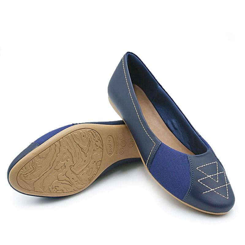 Sapatilha Feminina Usaflex New Blue/Bege - 232157