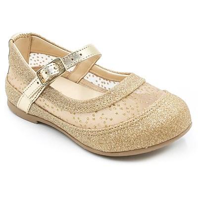 Sapatilha Infantil Bibi Gliter/Ouro Branco - 226191