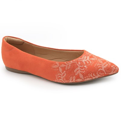 Sapatilha Valentina Orange/Multi - 235005