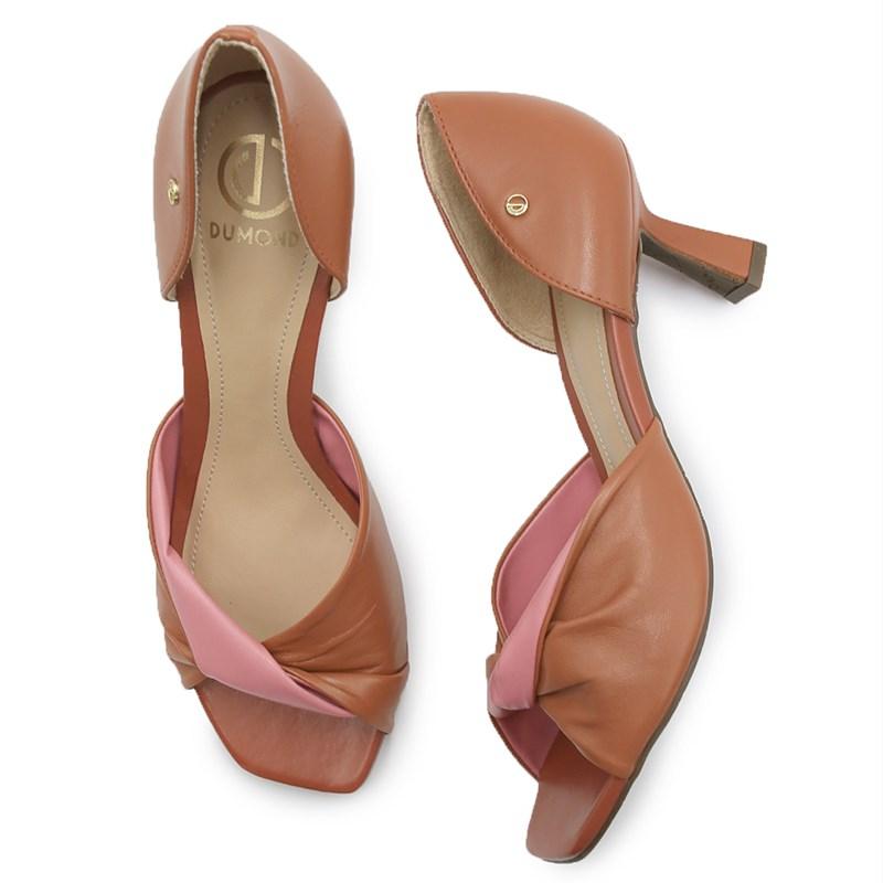 Sapato Dumond Castanho/Rosa - 233953