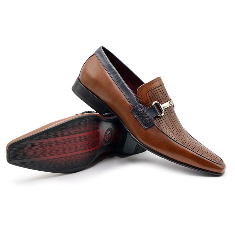 Sapato Masculino Albanese Whisky/Marinho - 226118