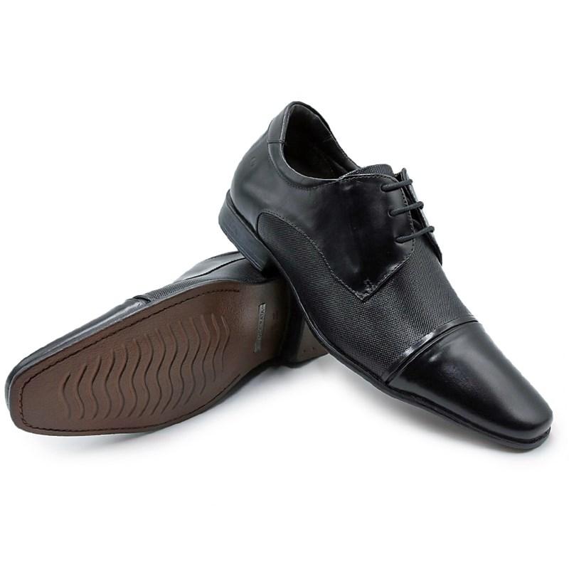 Sapato Social Masculino Democrata Preto - 227858