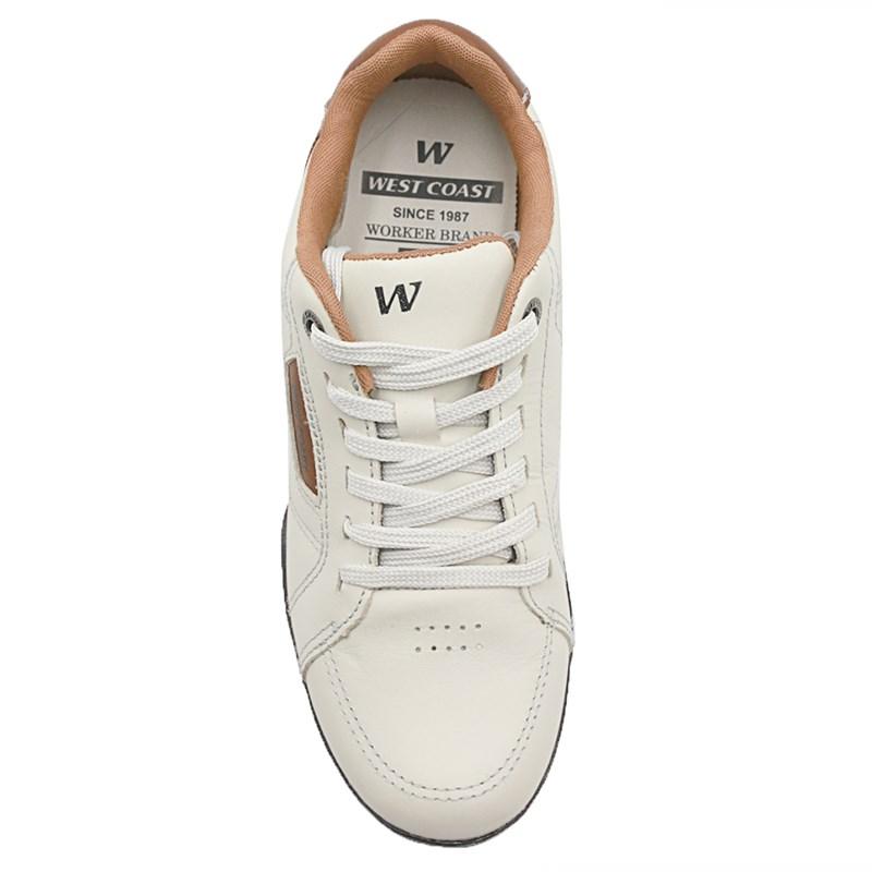 Sapato West Coast Gelo/Conhaque - 233684