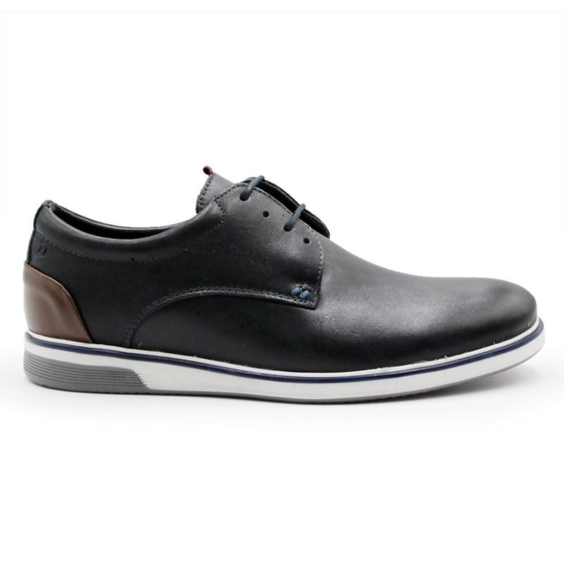 Sapato Zapattero Masculino Preto/Brown - 243406