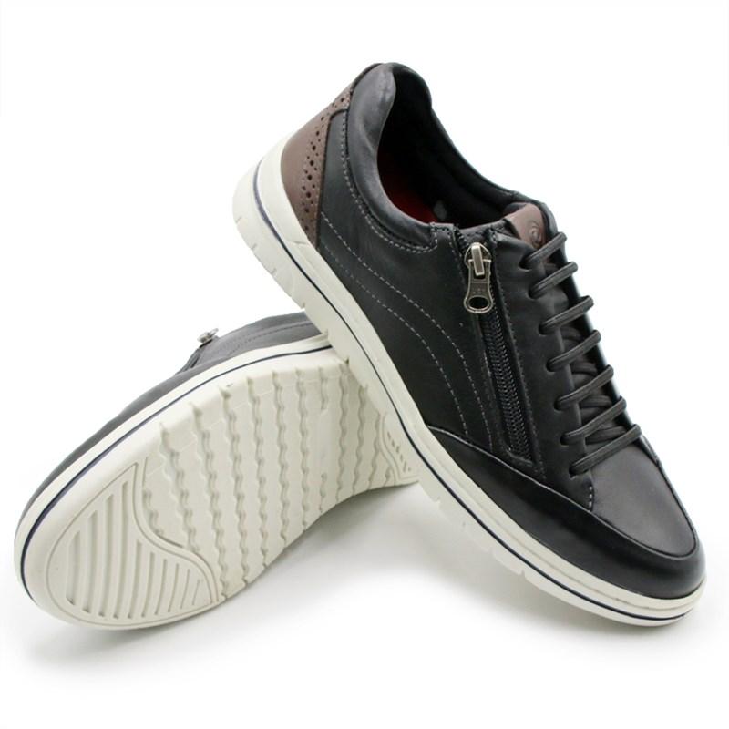 Sapato Zapattero Masculino Preto/Brown - 243408