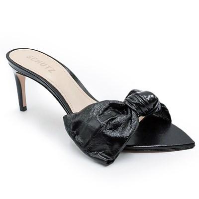 Tamanco Feminino Schutz Black/Transparente - 228444