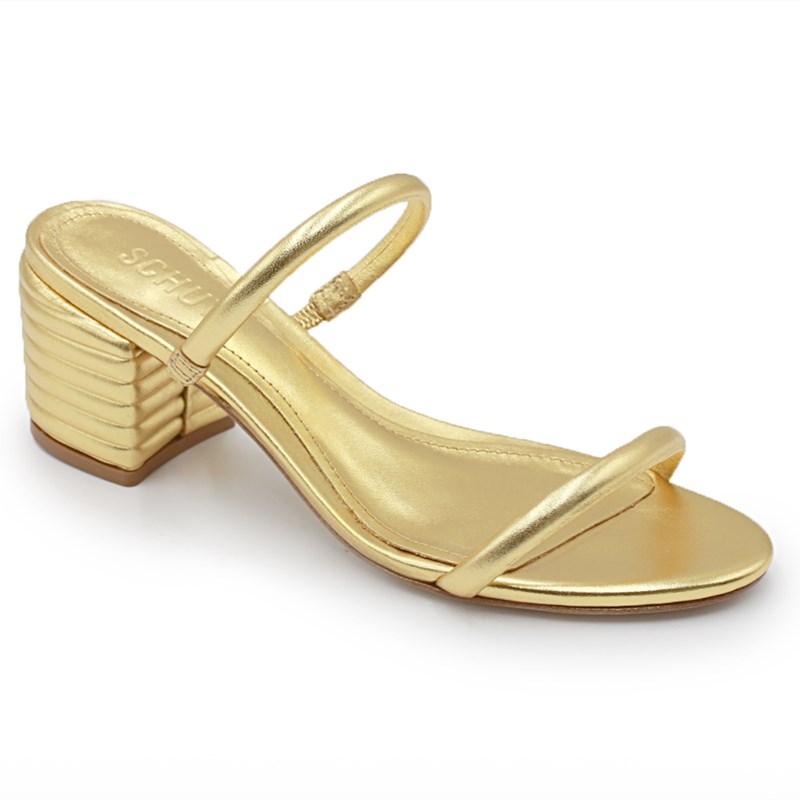 Tamanco Feminino Schutz Ouro - 233322
