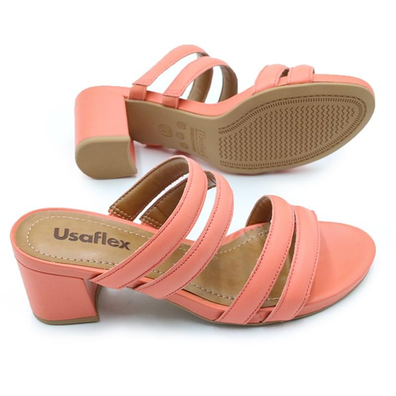 Tamanco Feminino Usaflex Coral - 226415