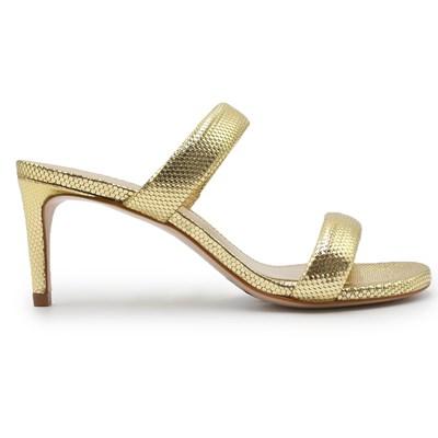 Tamanco Schutz Feminino Ouro Claro - 242020