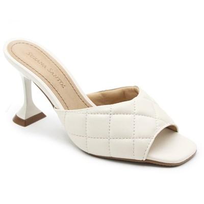 Tamanco Suzana Santos Feminino Frt Off White - 239954