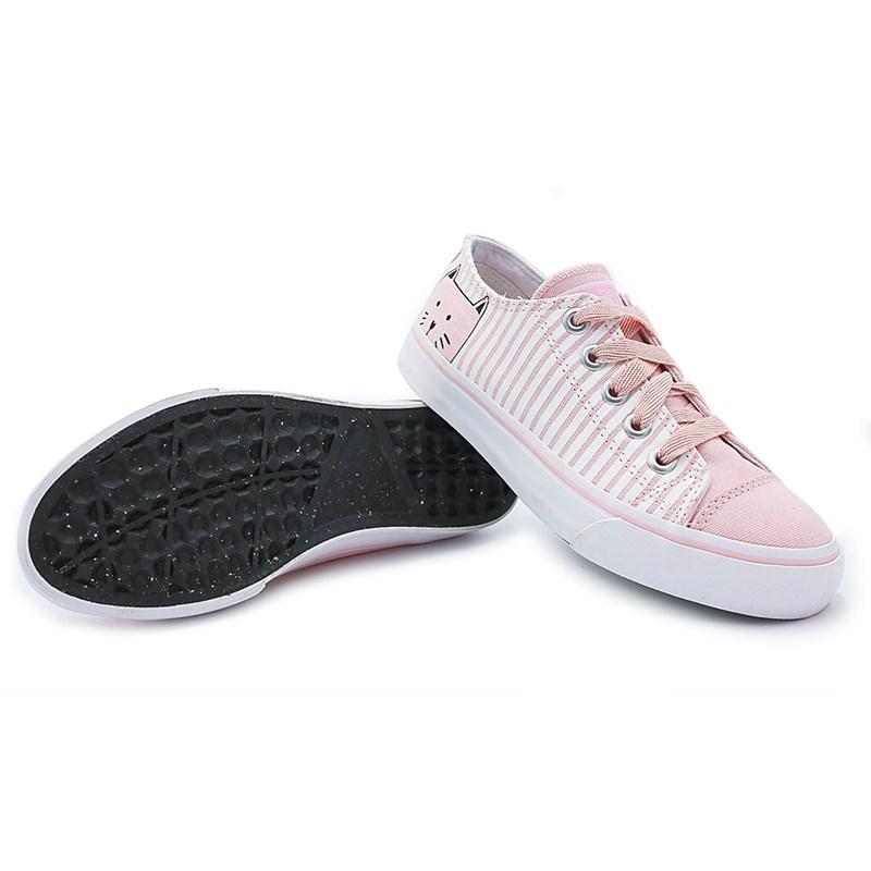Tenis Casual Capricho Rosa/Branco - 223474