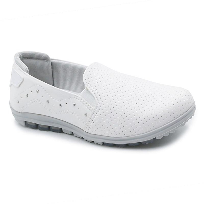 Tênis Casual Feminino Kolosh Branco/Fog - 233559