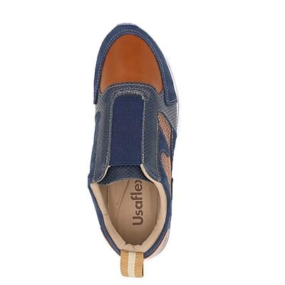 Tênis Casual Feminino Usaflex New Blue/Caramelo - 229698