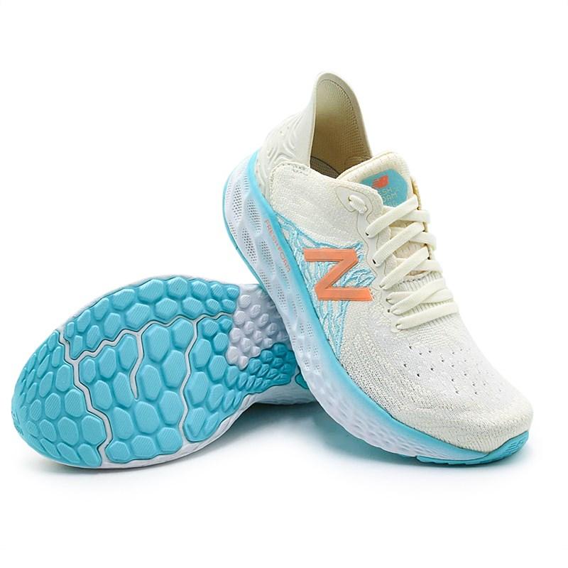 Tênis Feminino New Balance Fresh Foam Bege/Azul - 232557