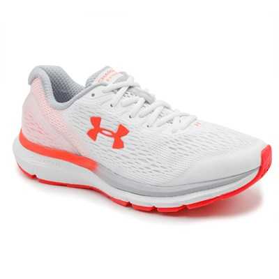 Tênis Feminino Under Armour Charged Extend White/Gray/Red - 232651