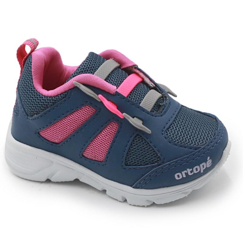 Tenis Infantil Ortope Marinho/Pink - 234746