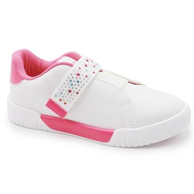 Tenis Infantil Pampili Branco/Pink - 235236