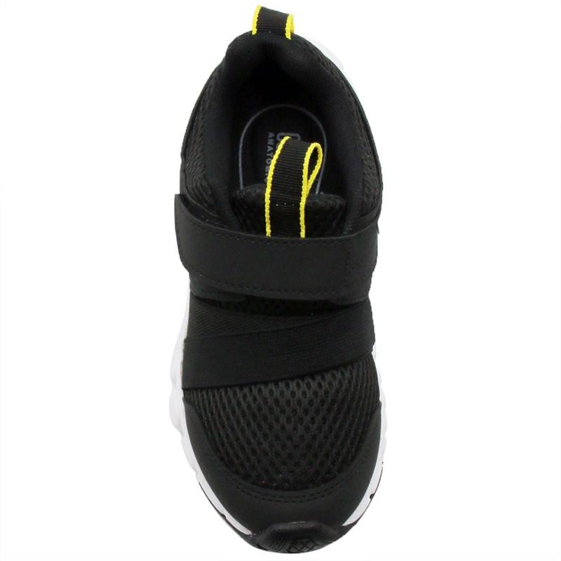 Tenis Klin Infantil Preto/Amarelo - 245401