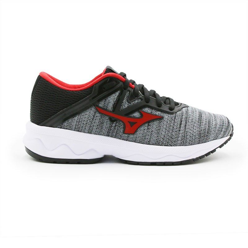 Tenis Mizuno Optimus Prata/Vermelho - 247424