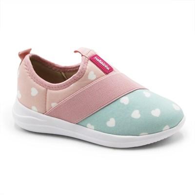 Tenis Molekinha Infantil Rosa/Branco - 245691