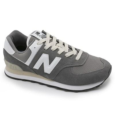 Tenis New Balance Ml574 Cinza/Branco - 239701