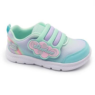 Tenis Skechers Comfy Flex 2.0 Infantil Azul/Lilas - 246070