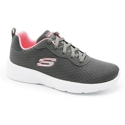 Tenis Skechers Dynamight 2.0 Feminino Cinza/Rosa - 246060