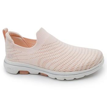 Tenis Skechers Go Walk 5 Rosa Claro - 242238