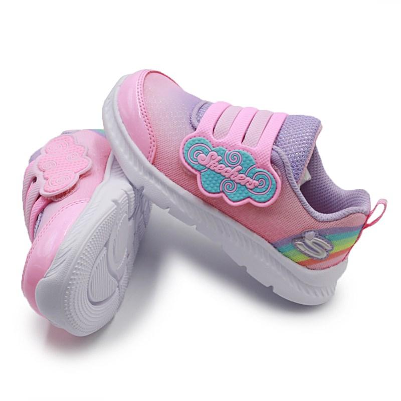 Tenis Skechers Infantil Comfy Flex Rosa Choque / Lilas - 242244