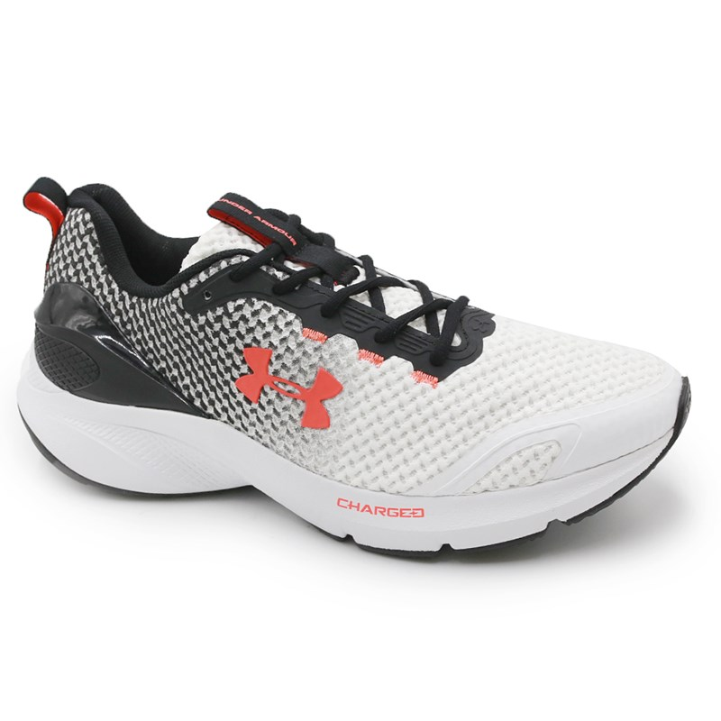 Tenis Under Armour Charged Prompt White/Black/Betared - 237477