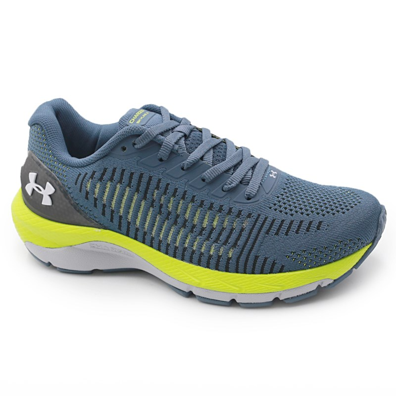 Tenis Under Armour Charged Skyline 2 Mechanic Blue/Green Citrine/Halo Gray - 237479